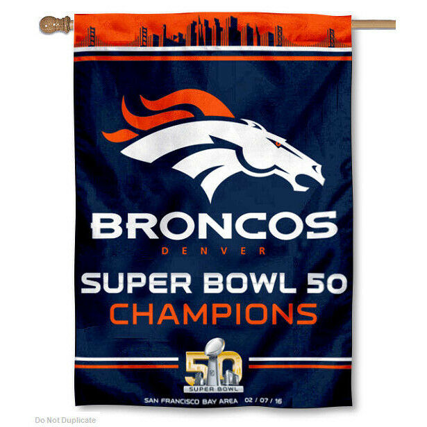 Denver Broncos Super Bowl Champs House Flag And Banner Ebay