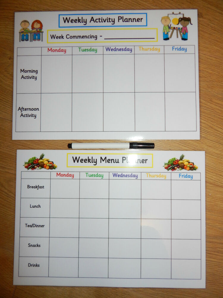 weekly activity planner