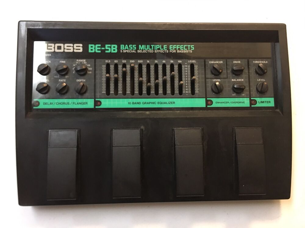 boss be 5b bass multi effects processor rare vintage guitar pedal mij japan ebay. Black Bedroom Furniture Sets. Home Design Ideas