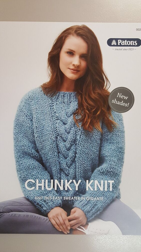 Patons Knitting Pattern #0029 Chunky Knit Sweater to make in Patons ...