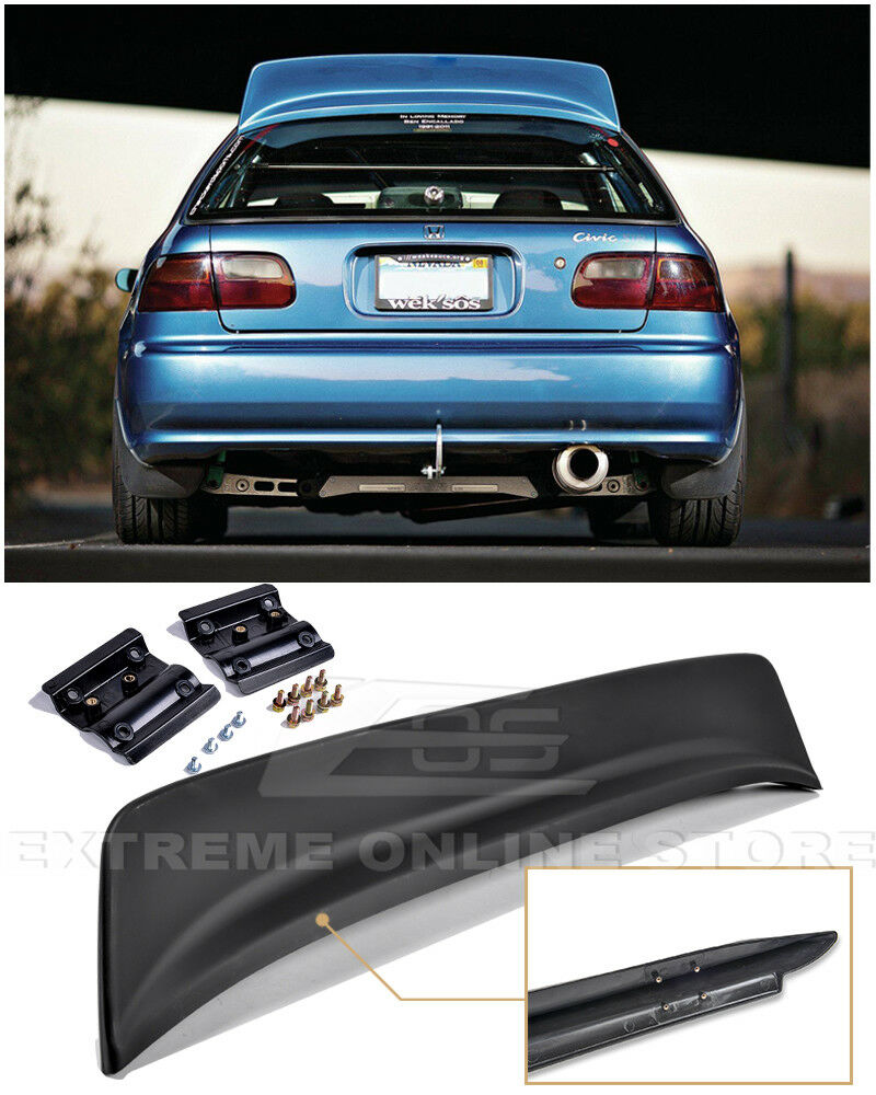 For 92 95 honda civic 3dr bys style abs plastic rear roof for 1993 honda civic window trim