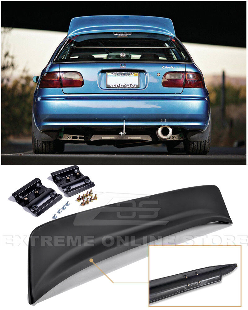 For 92 95 Honda Civic 3dr Bys Style Abs Plastic Rear Roof
