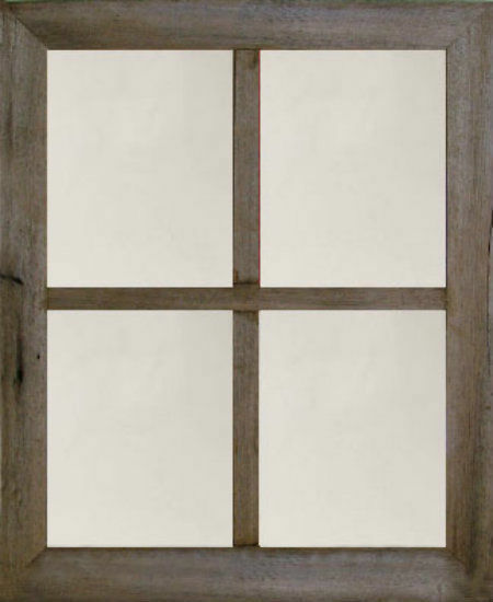 New Rustic Farmhouse 20x24 Barn Wood 2 Window Frame Large