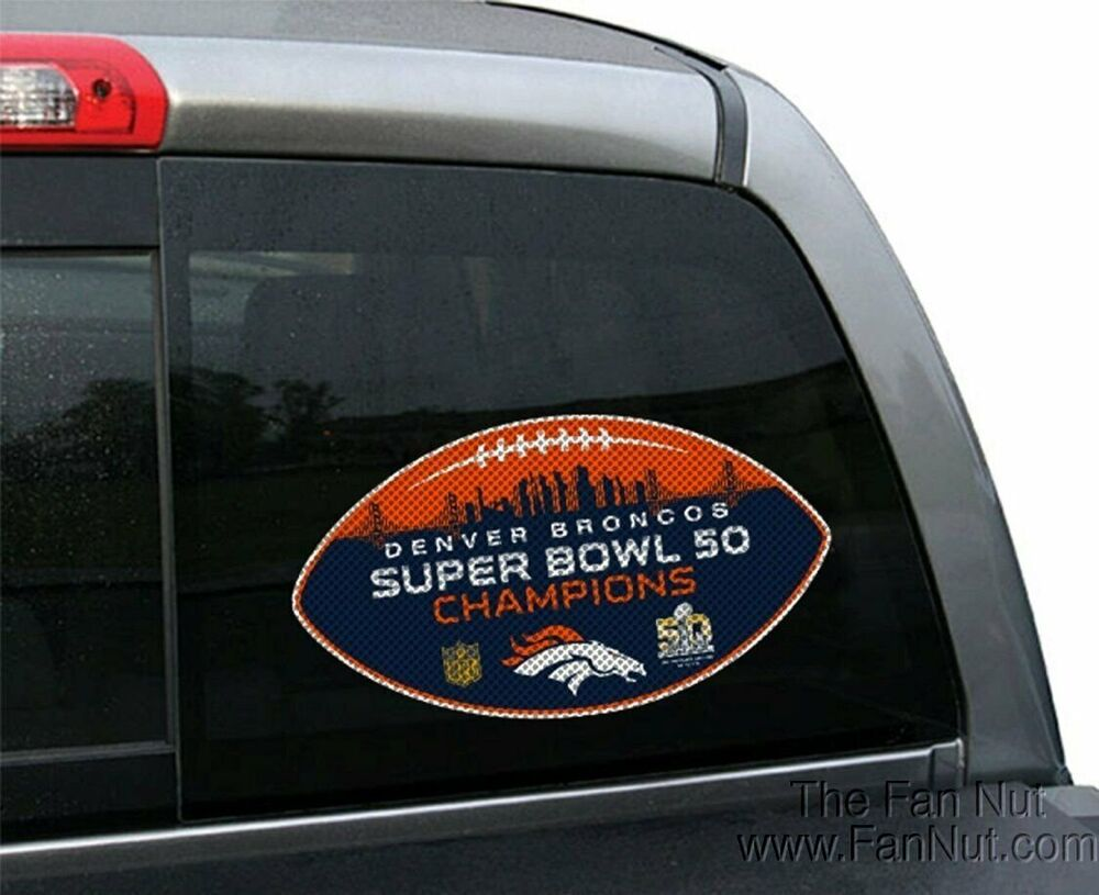 Denver broncos super bowl champions large perforated for Vinyl windows denver