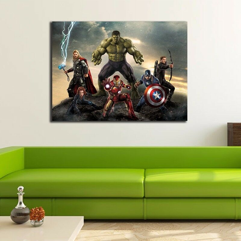 30 40 3cm Avengers Stretched Canvas Print Framed Wall Art