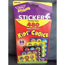 TREND 480 STINKY STICKERS KIDS CHOICE (32 SHEETS) OF SCRATCH 'N SNIFF STICKERS