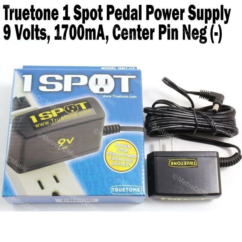 visual sound 1 spot guitar effects pedal power supply adapter nw1 us truetone ebay. Black Bedroom Furniture Sets. Home Design Ideas
