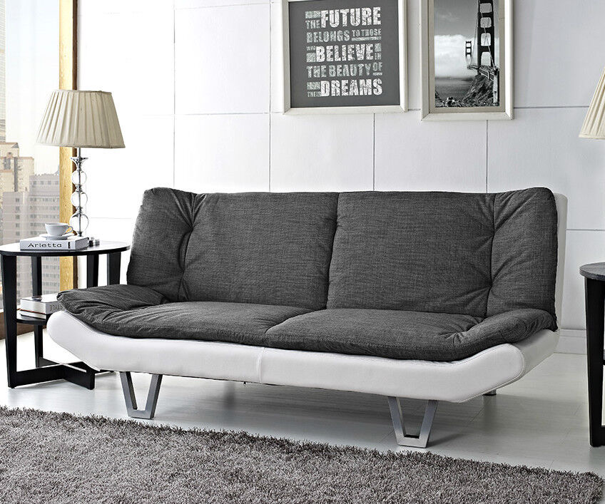 Fabric Sofa bed 3 Seater Egg Grey or Charcoal Fabric