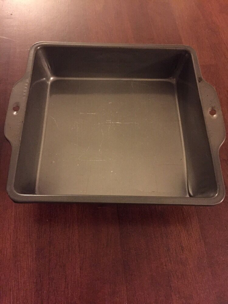 vintage ecko usa baking pan 8x8x2 sheet cake square pan retro kitchen tray ebay. Black Bedroom Furniture Sets. Home Design Ideas