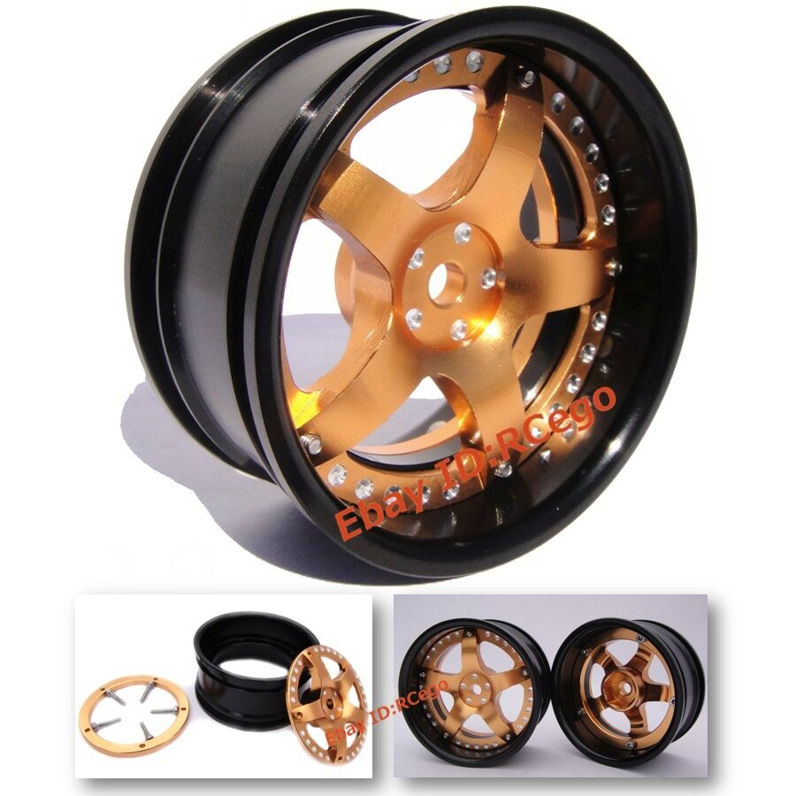 1 10 Rc Car Wheels : Rc aluminum wheels rims w screw for hpi kyosho on