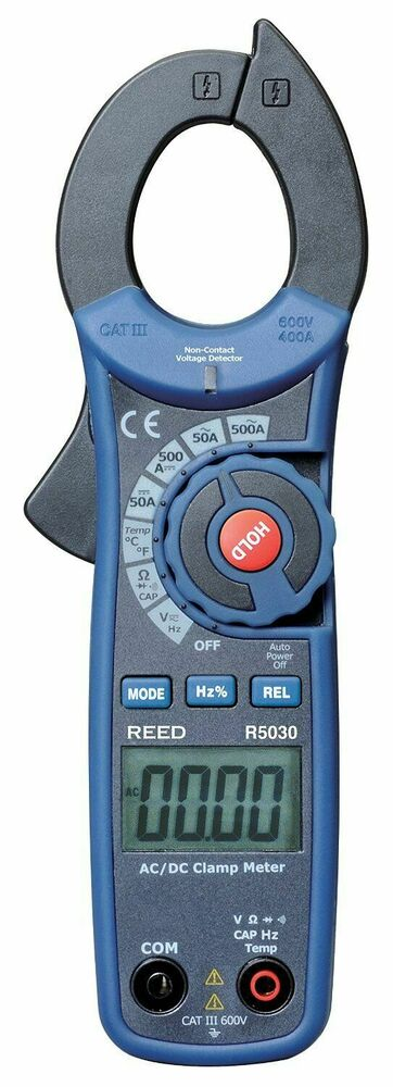 Ac Dc True Rms Clamp Meter : Reed instruments r a ac dc true rms clamp meter