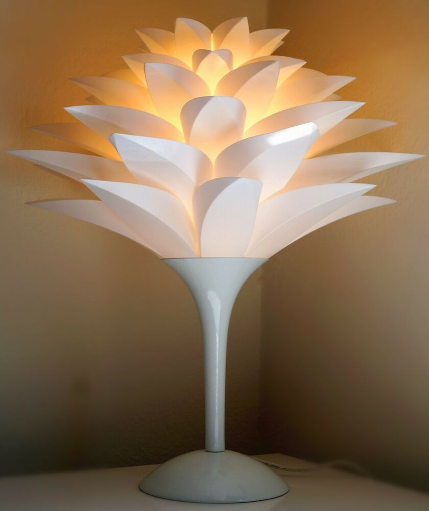 Table Lamp Jk129t Contemporary Modern White Plastic Shade