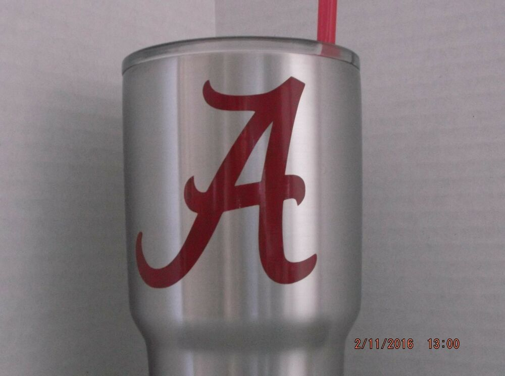 Alabama Crimson Tide Decal Sticker For Yeti Rambler
