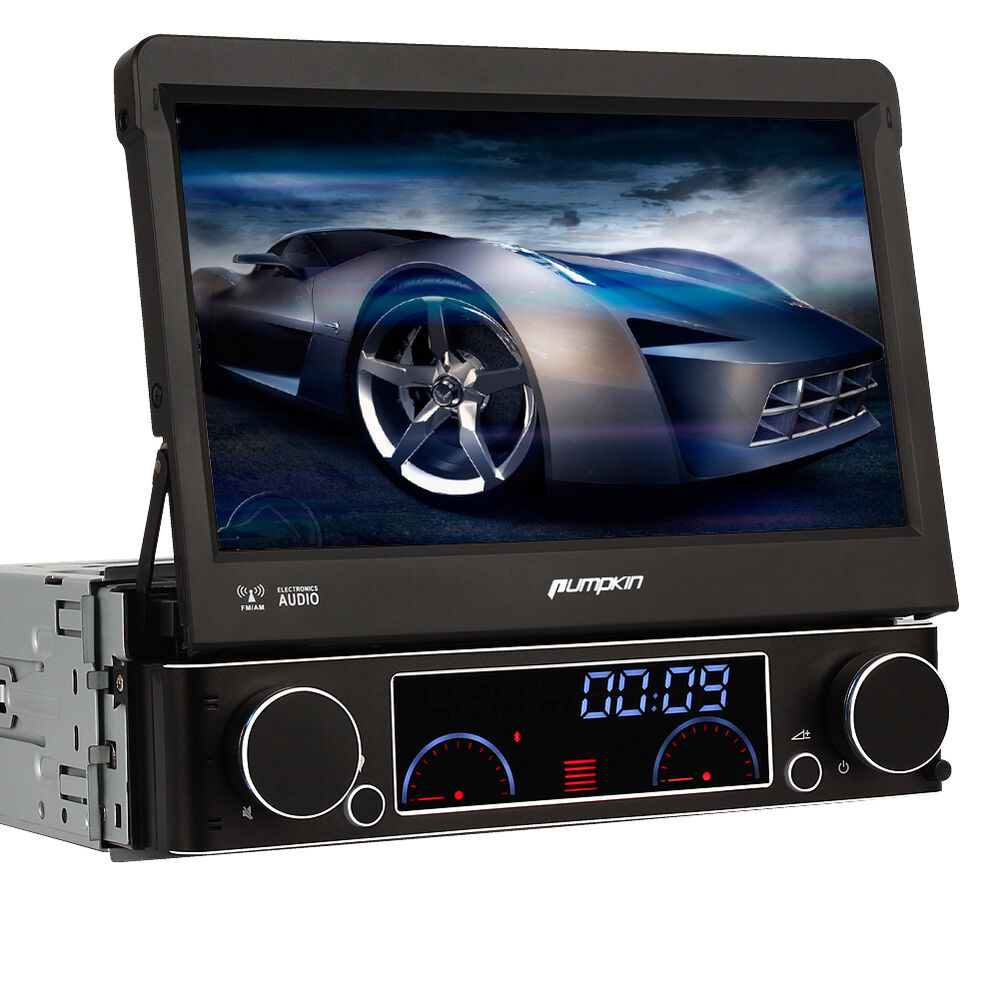 7 1 din car dvd cd player gps flip out radio rds usb sd. Black Bedroom Furniture Sets. Home Design Ideas