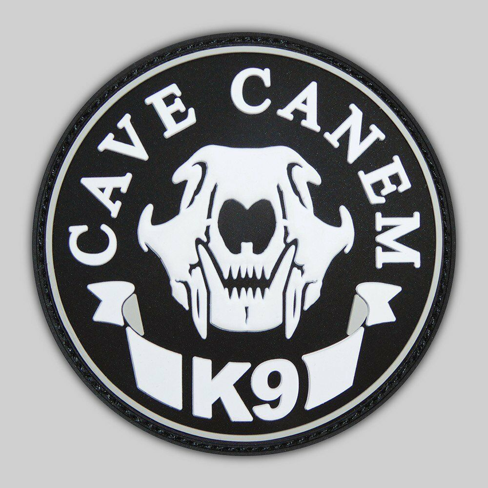 a1aa0a2078c0a K9 Unit Badge  CAVE CANEM K9 UNIT SWAT OPS ARMY MILITARY TACTICAL MORALE