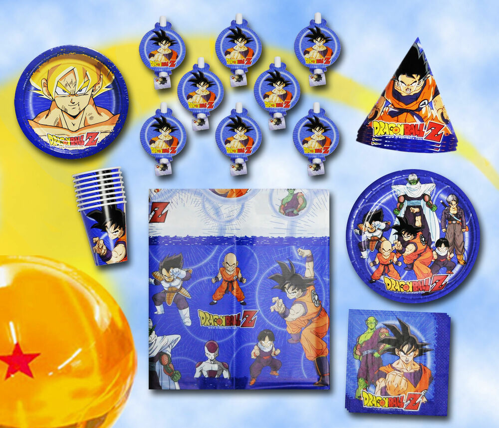 Dragonball z birthday party set supplies tableware cake for Dragon ball z decorations