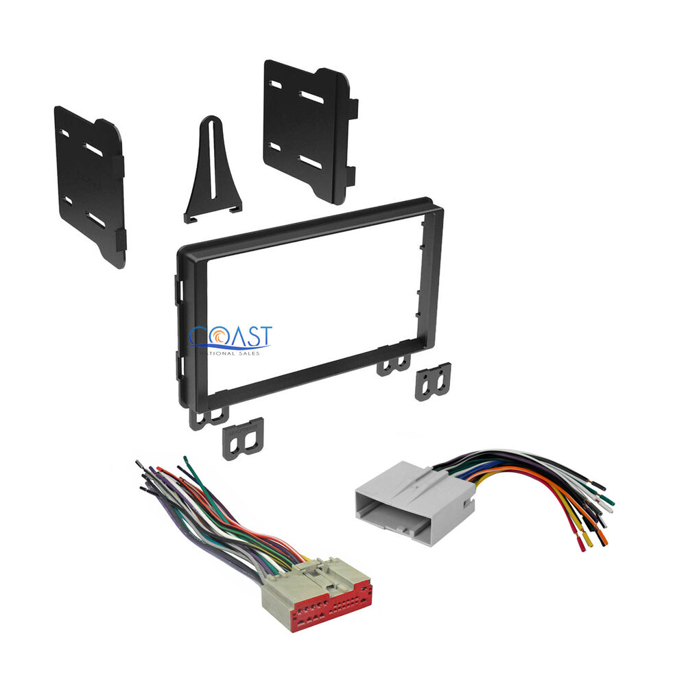 car radio stereo double din dash kit wire harness for 2003. Black Bedroom Furniture Sets. Home Design Ideas