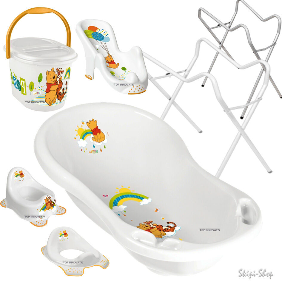 weiss winnie pooh set babywanne badewanne badesitz abfluss. Black Bedroom Furniture Sets. Home Design Ideas