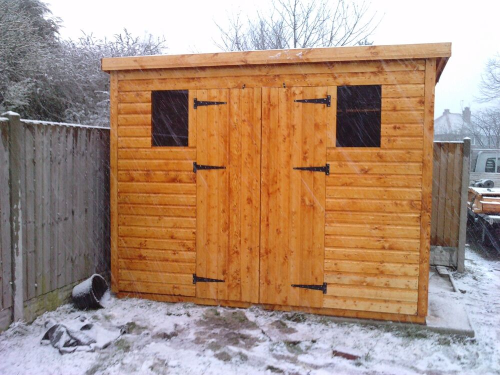 Wooden garden shed 8x8 or 10x6 13mm t g 2x2 cls frame 1 for Garden shed 8x8