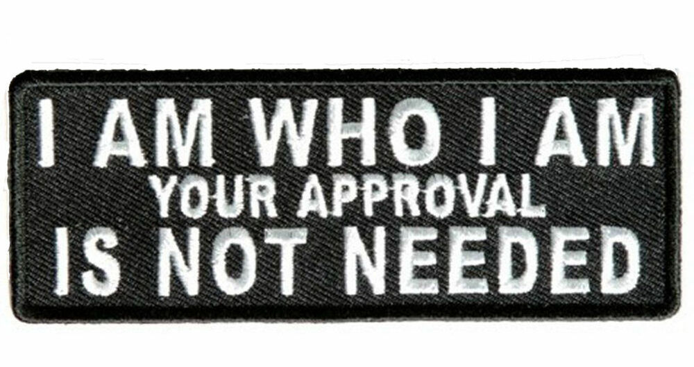 I am who approval embroidered jacket vest funny biker