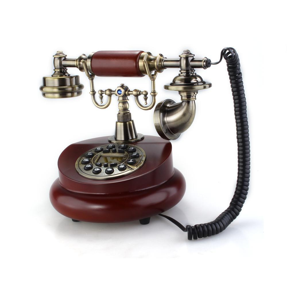 retro vintage antique classic brass style home desk telephone phone ebay. Black Bedroom Furniture Sets. Home Design Ideas
