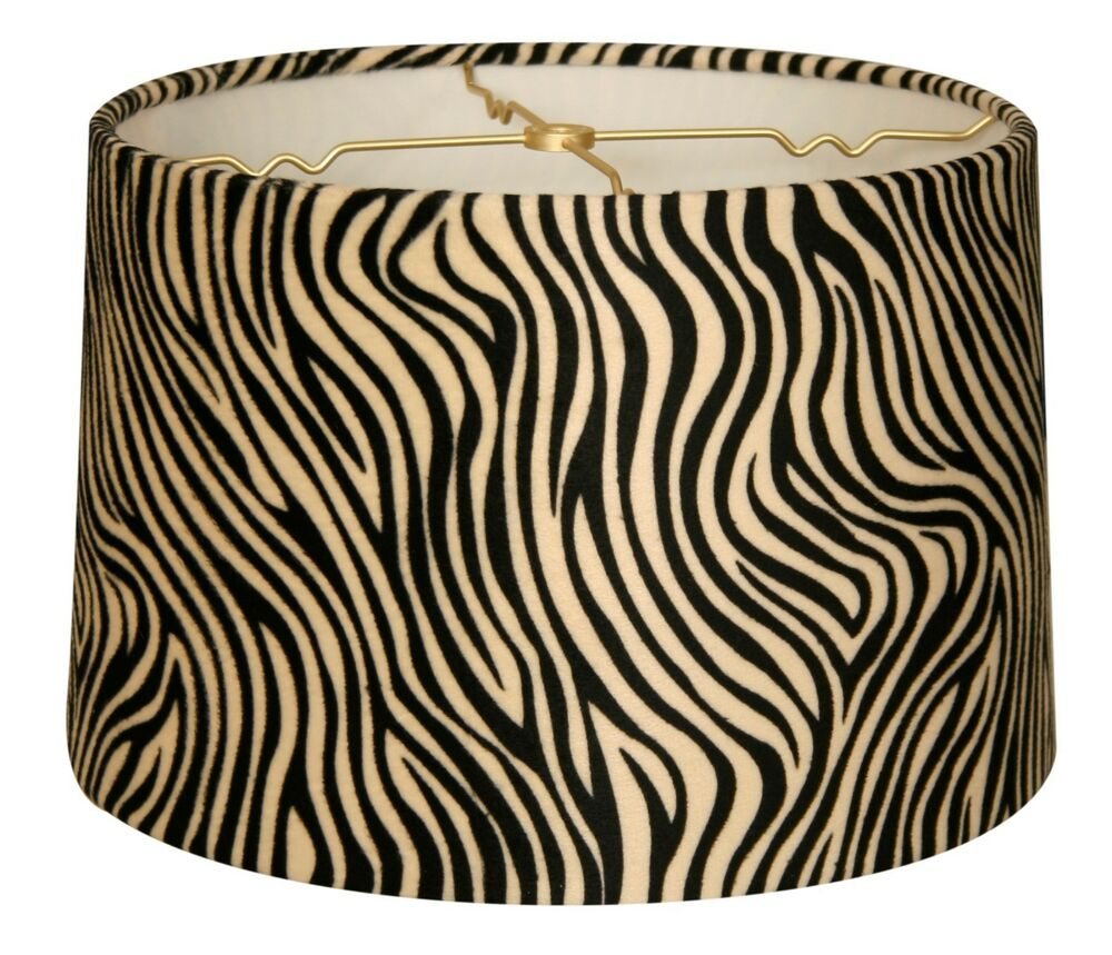 Zebra Animal Print Hardback Lamp Shade Ebay