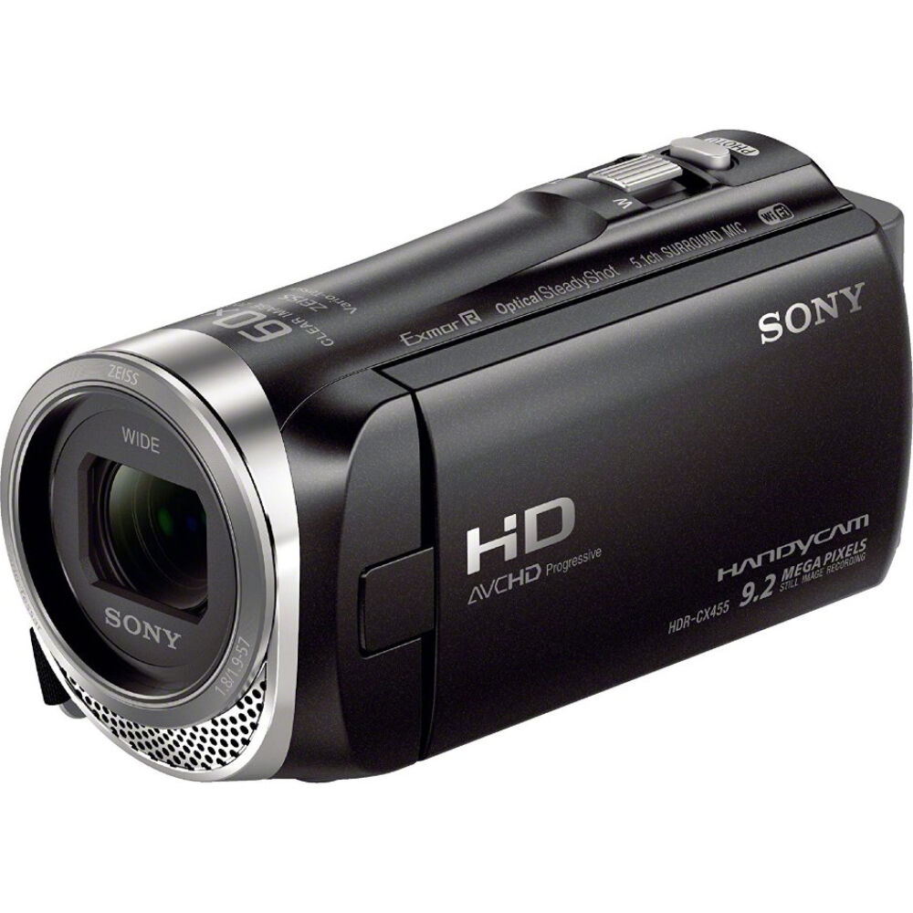 sony hdr cx455 b full hd handycam camcorder with exmor r. Black Bedroom Furniture Sets. Home Design Ideas