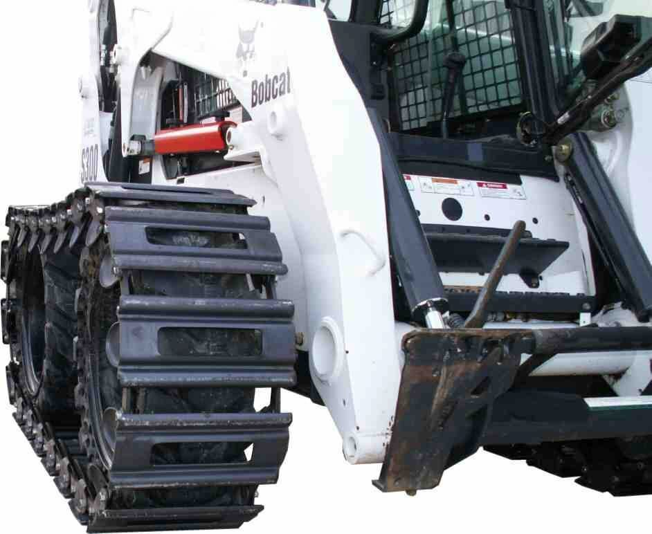 "Bobcat Skid Steer >> Skid Steer Tracks - 2PLUS Series Steel Tracks - 12"" Wide 