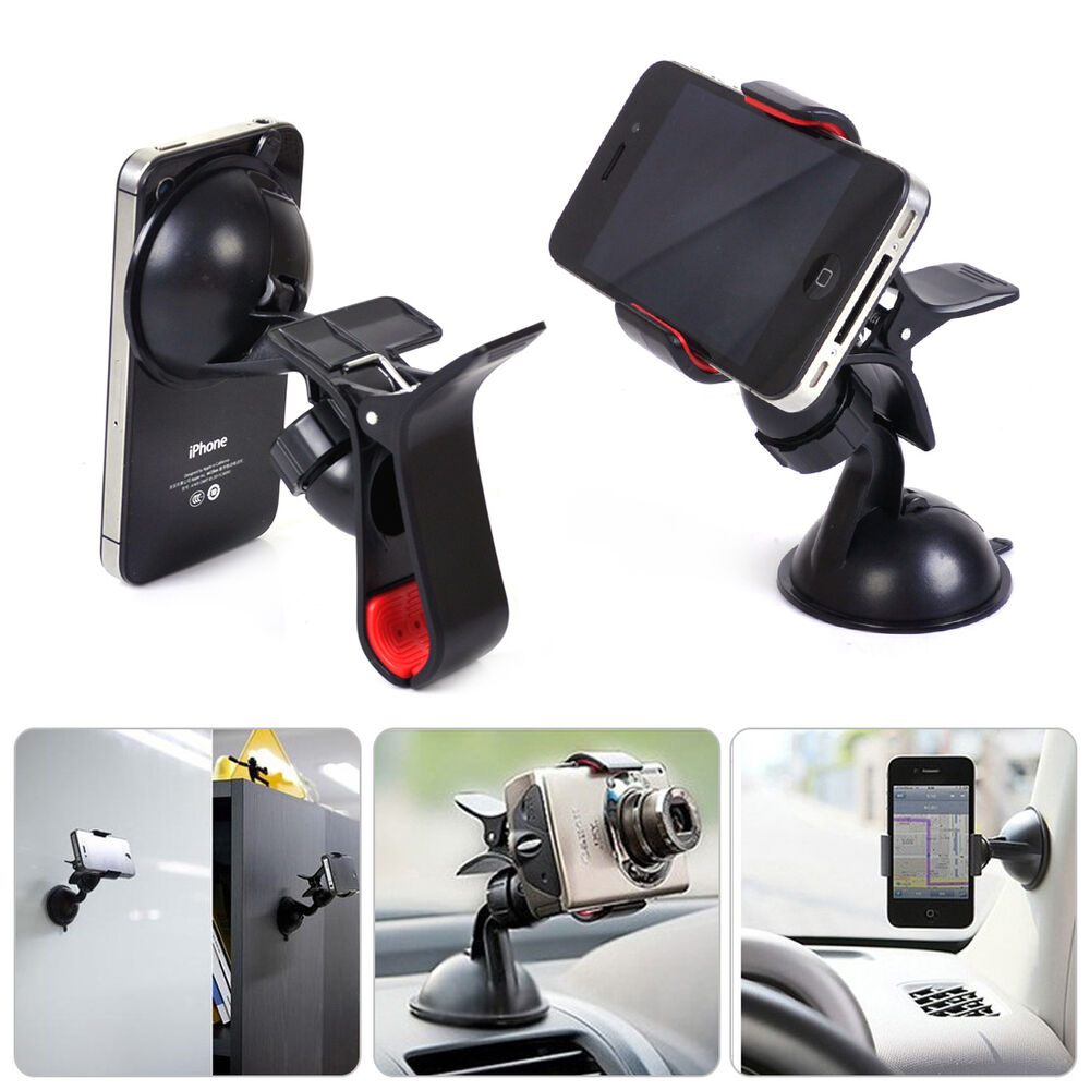 Universal Car 360 Rotating Windshield Mount Holder Bracket