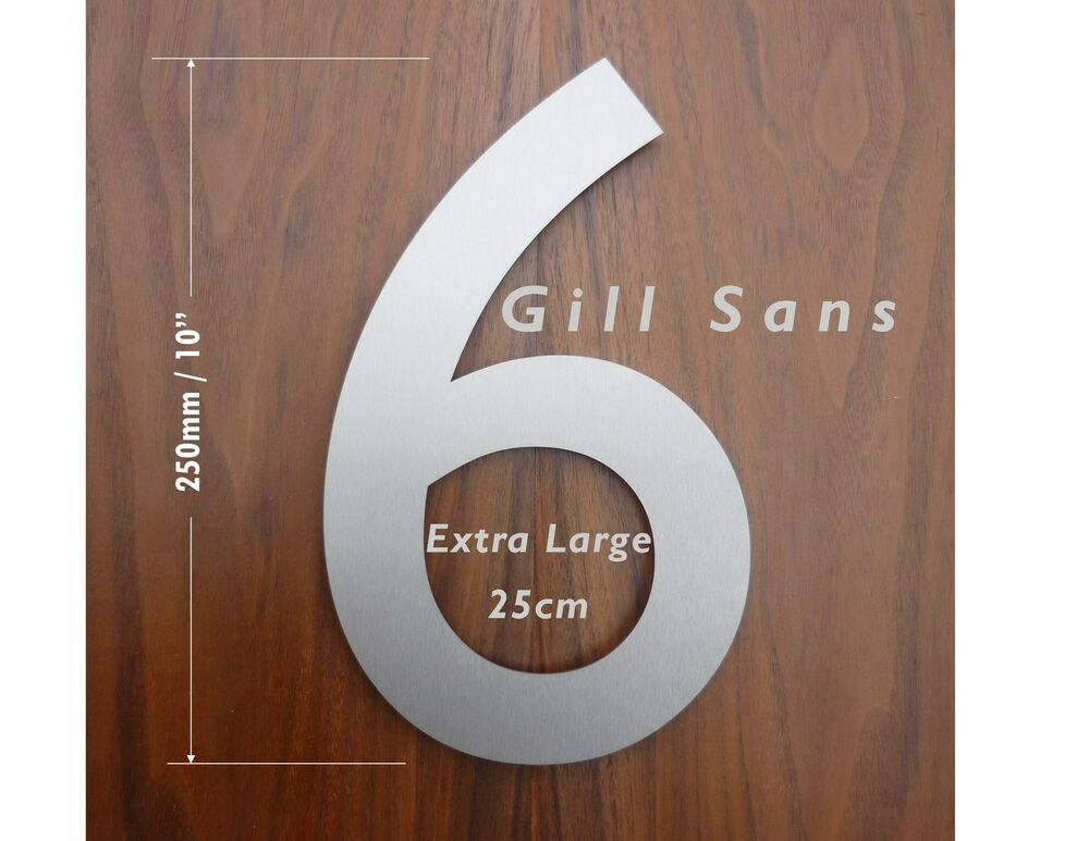 Extra large 25cm classic modern stainless steel house for Classic house numbers
