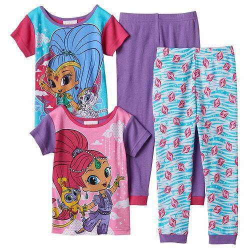 SHIMMER AND SHINE PAJAMAS SIZE 2T 3T 4T NEW