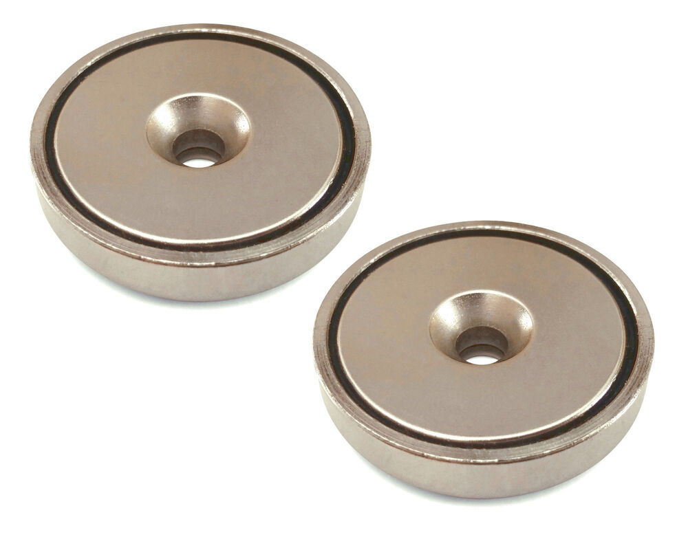 2pk round neodymium magnets with countersunk hole 70 lbs pulling force d ebay. Black Bedroom Furniture Sets. Home Design Ideas