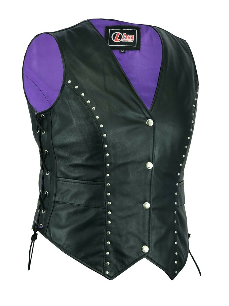 Top quality women's leather vests in a variety of motorcycle or fashion styles that you can't find anywhere other than Jamin Leather. We offer many exclusive collections of genuine leather vests for women that are perfect for that classic American lady.
