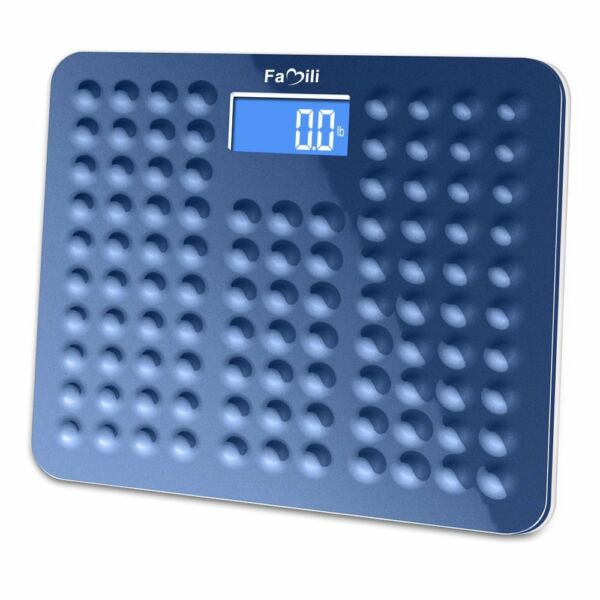400lb/180kg LCD Digital Bathroom Body Weight Scale With Antiskid Wide Platform