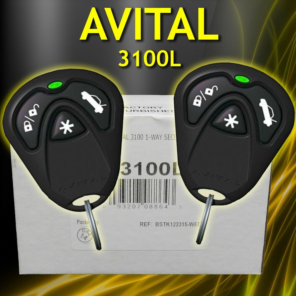 avital 3100l 3 channel car alarm with 2 remotes and keyless entry with siren 93207064784 ebay. Black Bedroom Furniture Sets. Home Design Ideas