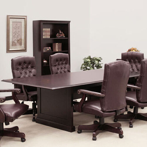 Traditional boardroom table and chairs set 8 24 ft for 10 ft conference room table