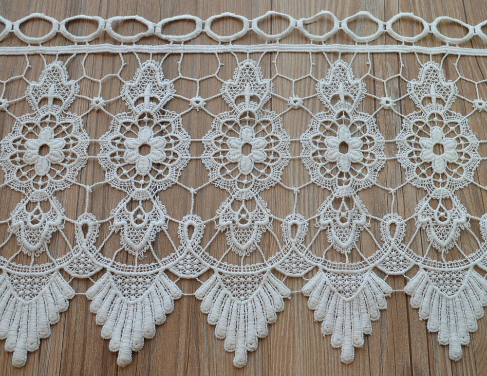 36 Quot White Macrame Lace Window Curtain Valance 12 Quot Length