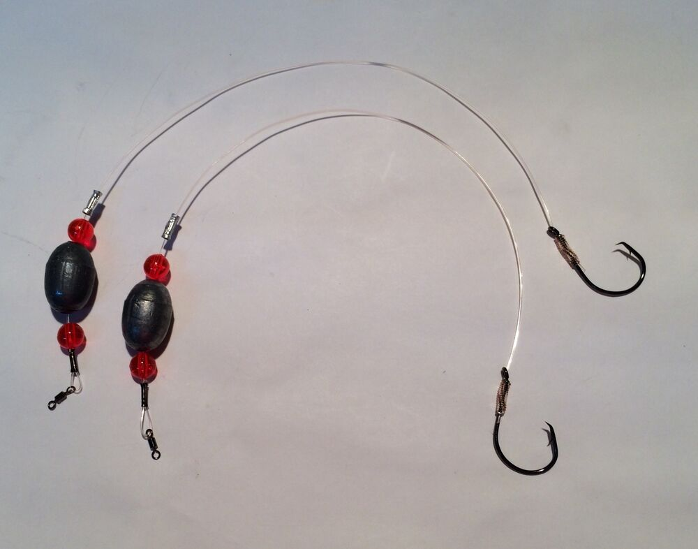 2 pcs bottom fishing red drum live bait caroilna rigs 1oz for Red drum fishing rigs