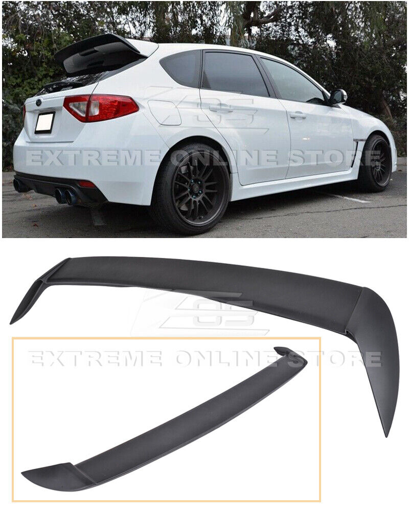 for 08 14 subaru wrx sti hatchback rear add on wagon wing lip spoiler extension ebay. Black Bedroom Furniture Sets. Home Design Ideas