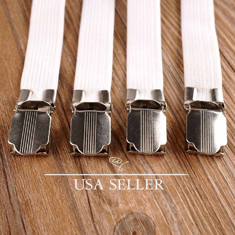 8pcs Bed Sheet Straps Holder Fasteners Clasps Grippers