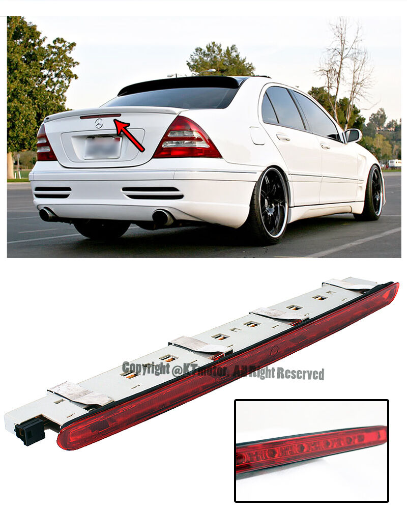 for 01 07 mb w203 c class rear trunk replacement red led third stop brake light ebay. Black Bedroom Furniture Sets. Home Design Ideas