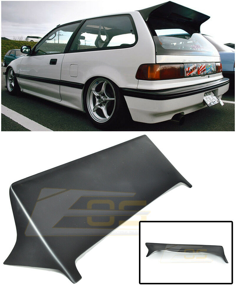 for 88 91 honda civic ef9 hatch 3dr j style rear roof. Black Bedroom Furniture Sets. Home Design Ideas