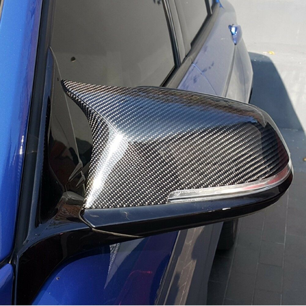 M4 Style Real Carbon Fiber Side Mirror Cover Trim Replace