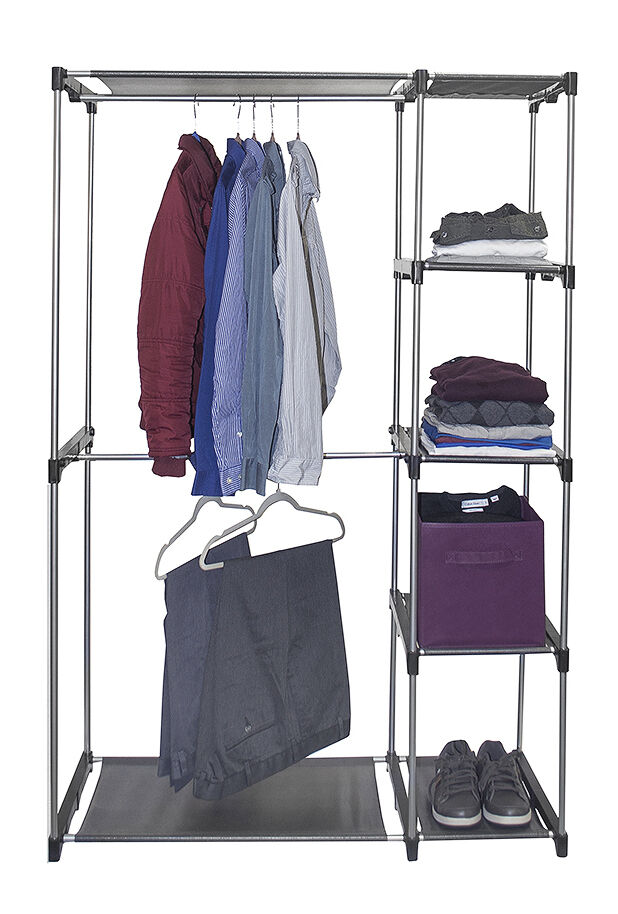 sorbus wardrobe closet portable free standing storage organizer ebay. Black Bedroom Furniture Sets. Home Design Ideas