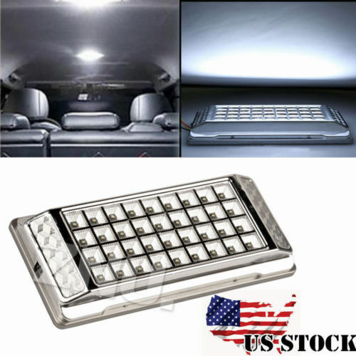2x super bright white 36 led car vehicle roof dome ceiling interior light lamp ebay. Black Bedroom Furniture Sets. Home Design Ideas
