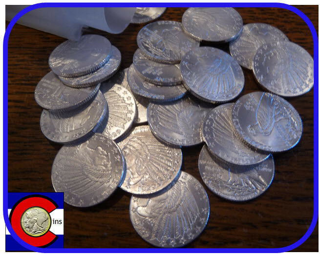 Incuse Indian Silver Bullion Tube Of 1 10 Oz Silver