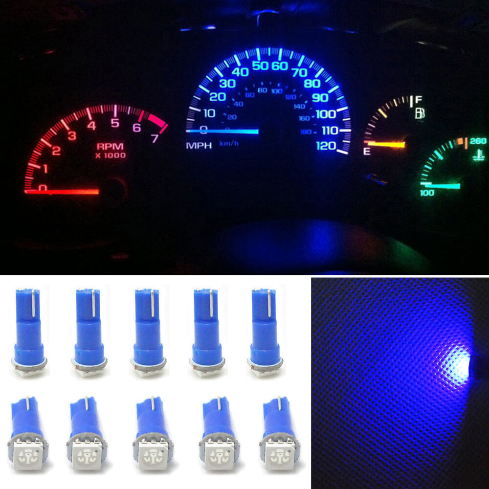 10x ultra blue t5 70 wedge 1 smd led gauge cluster lights. Black Bedroom Furniture Sets. Home Design Ideas