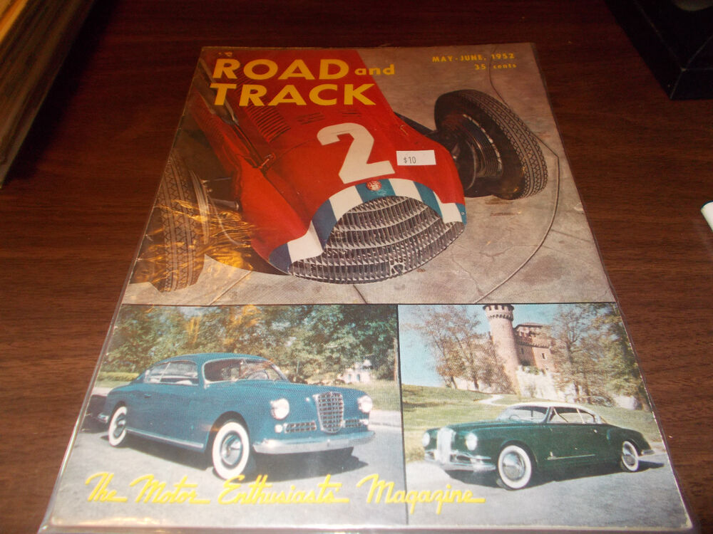 Road and Track Magazine May June 1952