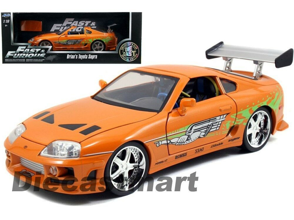 JADA 97505 THE FAST AND FURIOUS BRIAN'S TOYOTA SUPRA 1:18 ...