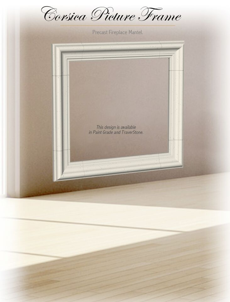 Corsica Picture Frame Cast Stone Fireplace Mantel Mantle Surround